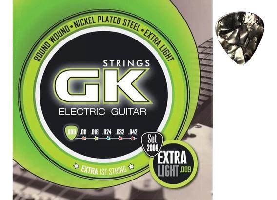 Encordados Para Guitarra Electrica 09 Gk 2009+púa De Regalo!