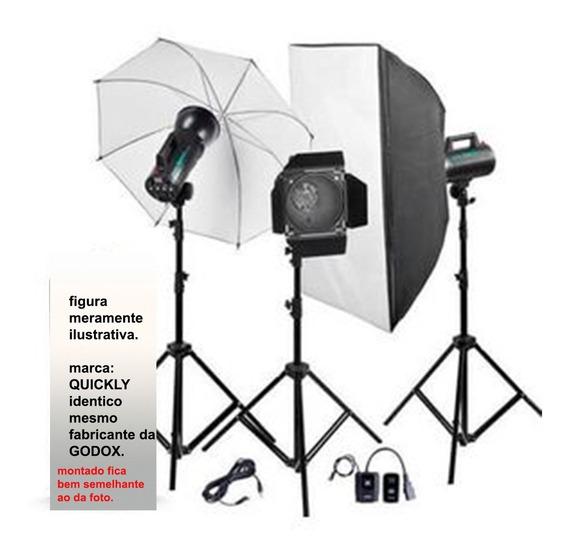 Estudio Fotografico Kit Completo Portátil Quickly