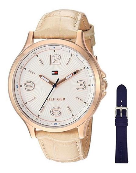 Relógio Tommy Hilfiger Feminino Aço Ouro Rose Puls Champanhe