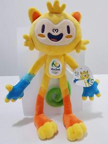 Kit Com 10 Mascotes Vinicius Olimpiadas Rio 2016 De 30 Cm