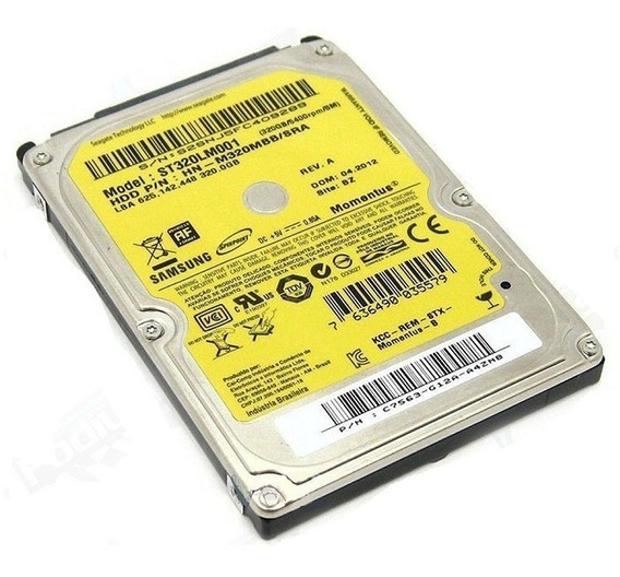 Hd 320 Gb Notebook Samsung Rv411 Rv415 Rv419 Rv420 Rv425