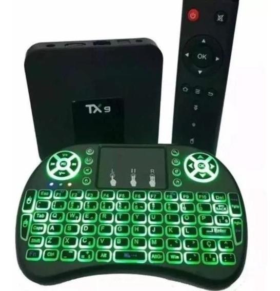Transforme Tv Smart Box Tv Tx9 A 9.0 4gb 64gb +mini Teclado