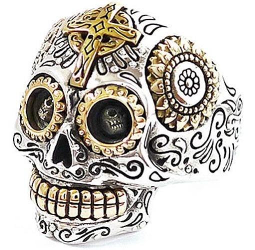 Anillos Esqueletos Calaveras Mexicana Plata Oro 32 Gramos