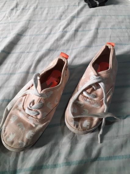 Zapatillas Topper Con Elefantitos Nenas Nro 34