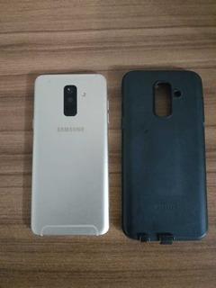 Smartphone Samsung Galaxy A6+ 64gb Prata Tela 6 Câmera 16mp
