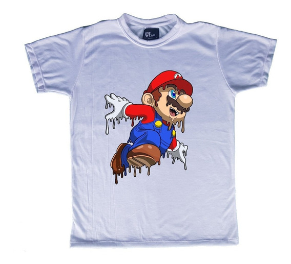 Playera Long O Normal Mario Bros Live Wear Mod M03