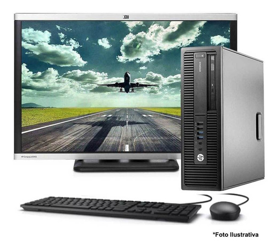 Computador Elitedesk 800 Core I5 6ªg 8gb 500gb + Monitor 22
