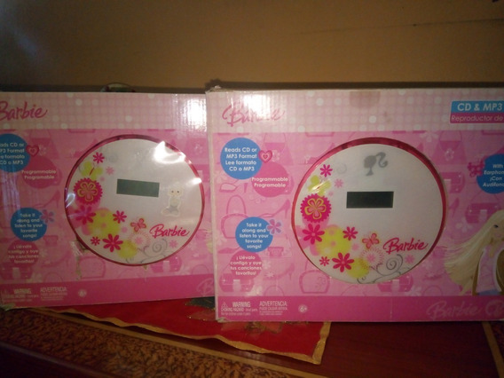 2 Reproductor De Cd Y Mp3 Barbie Original