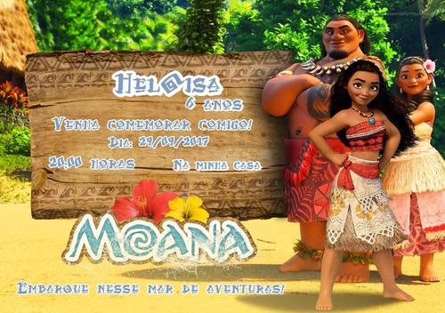 Imagem 1 de 3 de Arte Convite Digital Moana - Moana Baby