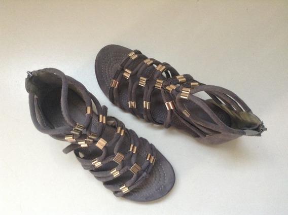 Zapatos Grises Abiertos