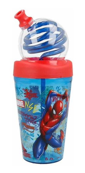 Vaso Spiderman Antiderrame Licencia Original Ha156