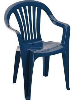Set X 4 Sillas Ritmo Rimax Linea Reciclable Azul Oscuro