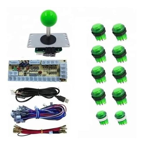 Kit Arcade Mame 1 Palanca 10 Botones Iluminados Raspberry Di