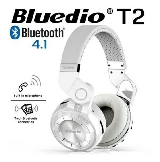 Fone Headphone Bluedio T2 Turbine Bluetooth Original+cabos