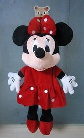 Mochila Minnie Rosa/ Vermelha Ou Mickey Infantil Escolar