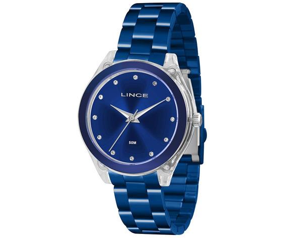 Relógio Lince Feminino Azul Lra4431p