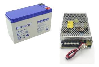 Fuente Ups Switching Cargador 12v 8a Bateria 7ah De Respaldo