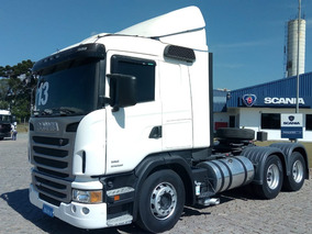 Scania G 400, 2013, Branco, 6x2. Automático, Defletor. R6223