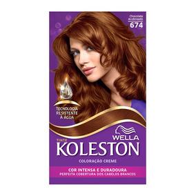 Coloração Creme Koleston Kit Chocolate Acobreado 674