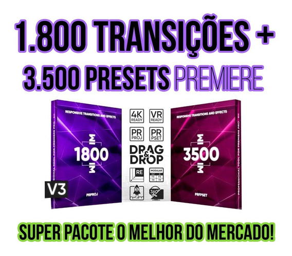 1800 Transições +3500 Presets Adobe Premiere