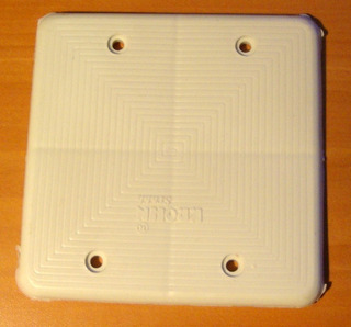 Tapa Ciega Plástico 4x4 Blanca Para Cajetín Electricidad