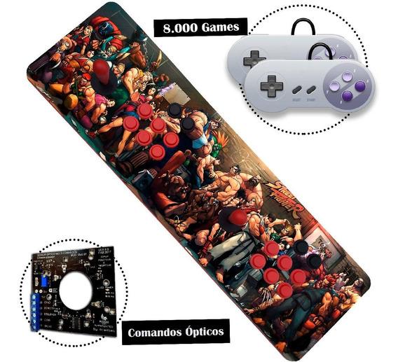 Fliperama Portátil Arcade Controle Duplo Óptico Aegir 32gb !