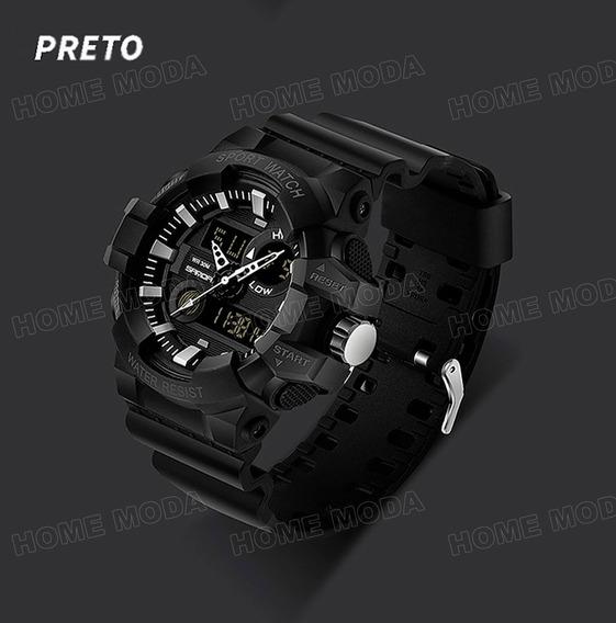 Relógio Preto Casual Masculino Original Importado Esportivo