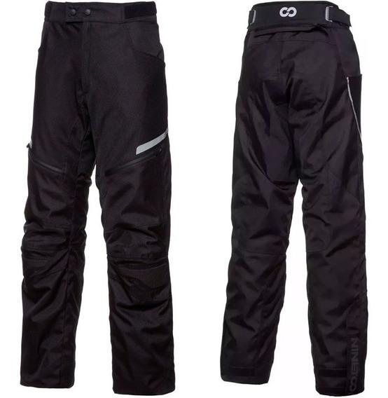 Pantalon Moto Ls2 Mujer Ninetoone Xena Protecciones Negro