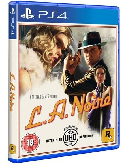 L. A. Noire La Ps4 Disco Fisico Original Lacrado Promoção