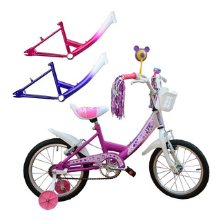 Bicicleta Rodado 14 Jvk Flower