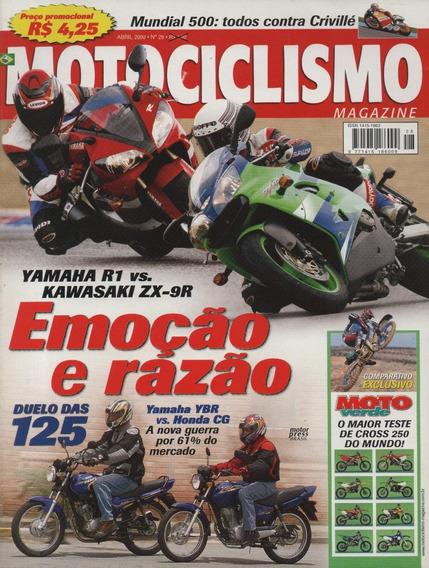 Motociclismo N°28 Yamaha R1 Ybr Kawasaki Zx-9r Honda Cg 125