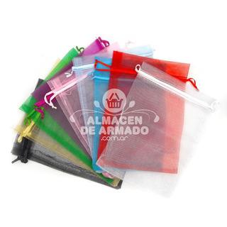 Bolsa De Organza 15 X 20 Cm Candy Bar Souvenir 10 Unid