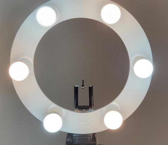 05 Rings Light 06 Lampadas Led2em1 + Tripé + Kit Selfie