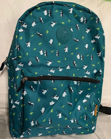 Mochila Pinguino Marca Olympia De Eeuu Excelente 18 46 Cm