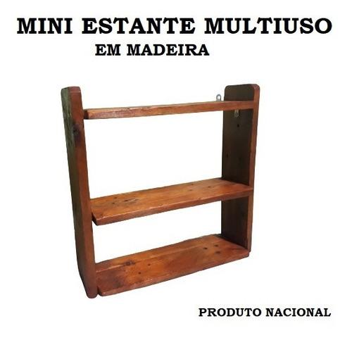 Mini Estante Multiuso De Madeira - Artesanal