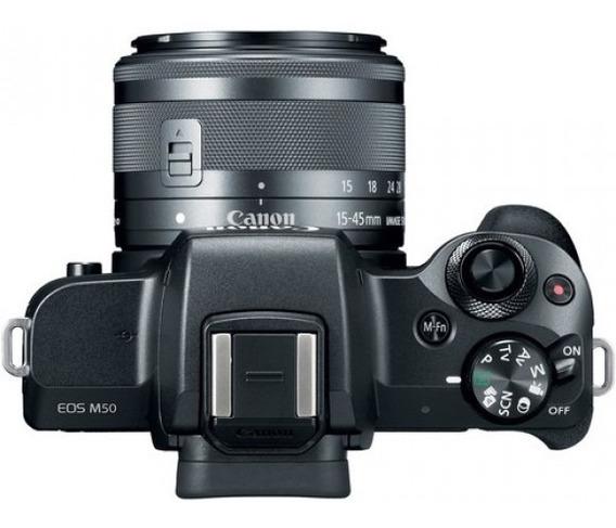 Câmera Canon Eos M50 15-45mm Is Stm