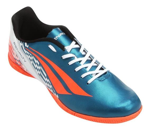 Chuteira Futsal Penalty Storm 7 Masculina - Azul Petróleo V