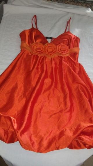 Vestido Estilo Coctel Naranja Leer Antes De Ofertar