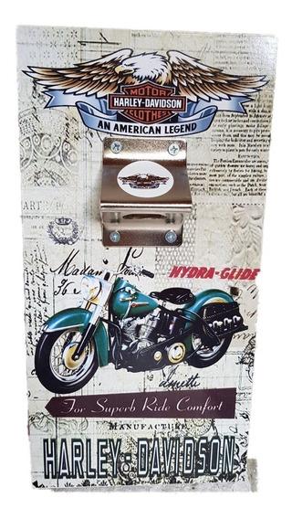 Harley Davidson Cuadro Cartel Vintage Coleccion Destapador 2