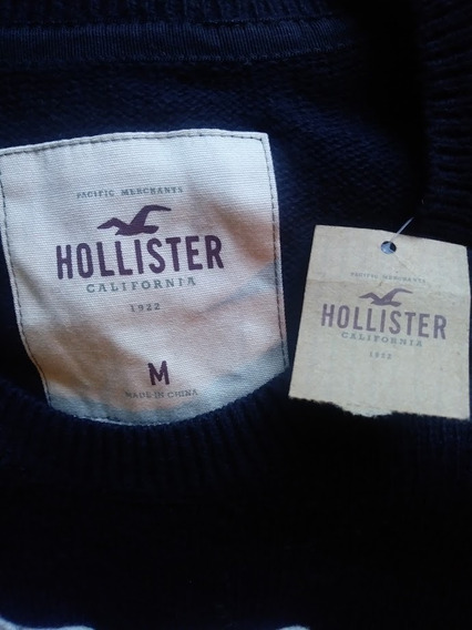 Blusa De Frio Hollister 62cm X 40cm Nova Elastano Elastano
