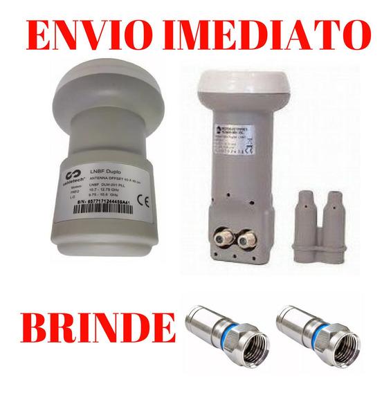 Lnb Duplo Universal Hd Brinde 2 Conectore!!!