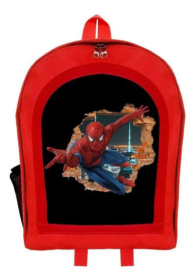 Mochila Infantil Jardín Spider Man Hombre Araña Givan