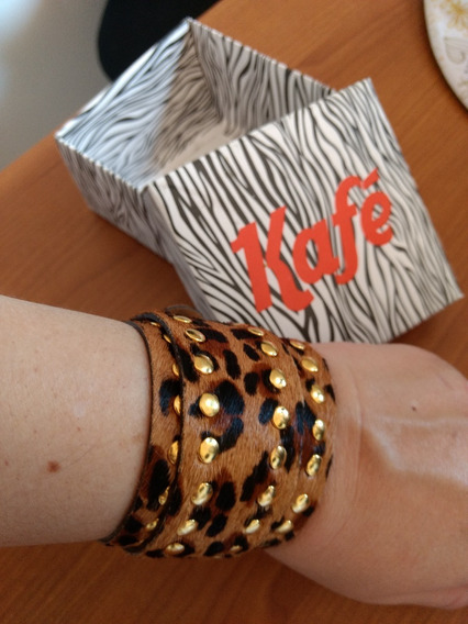 Pulseira Bracelete Leopardo Kafe