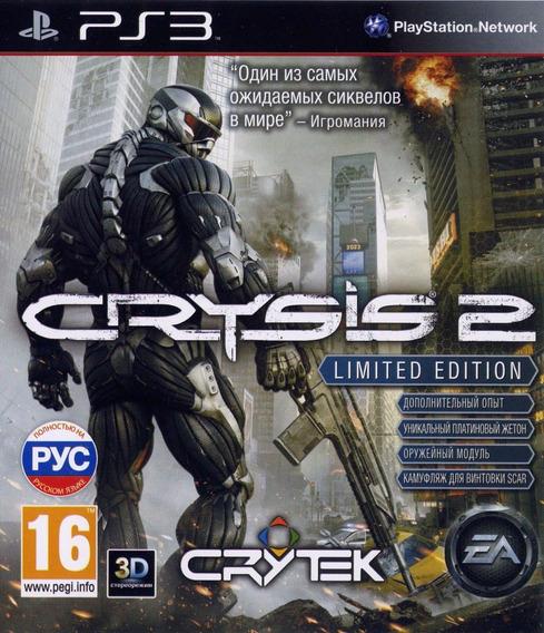 Jogo Crysis 2 Ps3 Ed Limitada Mídia Física Frete Grátis Fps