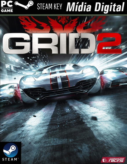 Pc - Grid 2 - Steam Key - Mídia Digital Jogo Para Computador