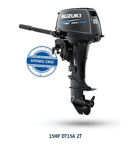 Imagem 1 de 1 de Motor De Popa 0km Suzuki 15 Hp 18 X Sem Entrada