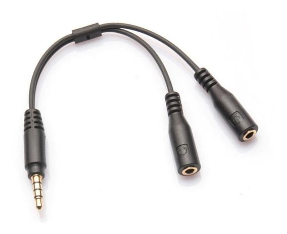 Adaptador P2 P3 Fone Microfone Xbox One Ps4 Pc Headset Audio