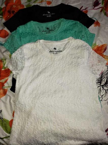 Lote Camisetas Infantil Abercrombie