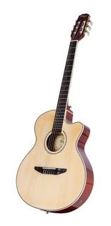 Guitarra Clásica Electrocriolla Parquer 1/2 Caja Funda Cuota