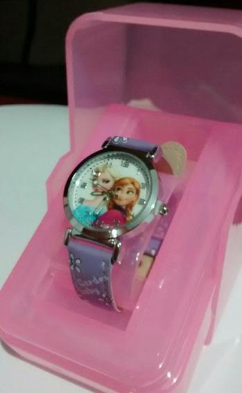 Relógio Infantil Frozen Em Promoção Barato Pulseira De Couro